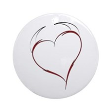 Heart with Horns Ornament (Round)