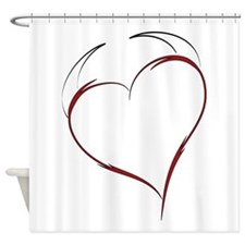 Heart with Horns Shower Curtain