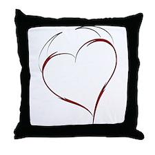 Heart with Horns Throw Pillow