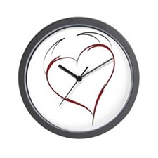 Heart with Horns Wall Clock