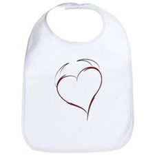 Heart with Horns Bib