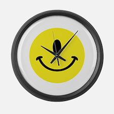Cyclops Smiley Face Large Wall Clock