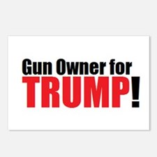 Gun Owner for TRUMP! Postcards (Package of 8)