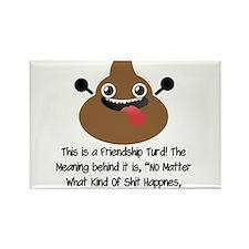 Friendship Turd Rectangle Magnet (100 pack)