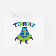 Terrible 1 Monster Greeting Card