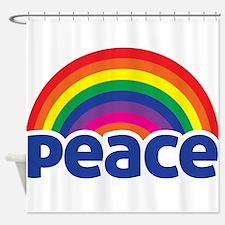 Peace Rainbow Shower Curtain