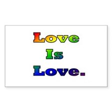 Love is Love. Rectangle Decal