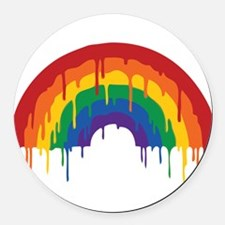 Rainbow Round Car Magnet