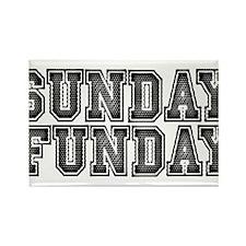 Sunday Funday Rectangle Magnet
