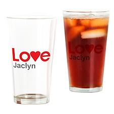 I Love Jaclyn Drinking Glass