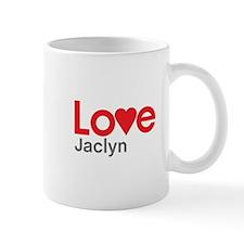 I Love Jaclyn Mug