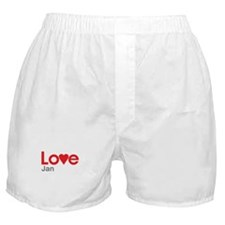 I Love Jan Boxer Shorts