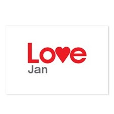 I Love Jan Postcards (Package of 8)