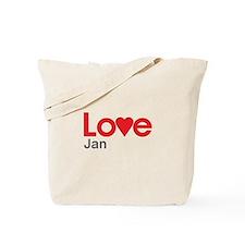 I Love Jan Tote Bag