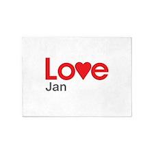 I Love Jan 5'x7'Area Rug