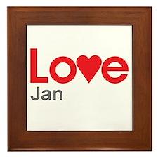 I Love Jan Framed Tile