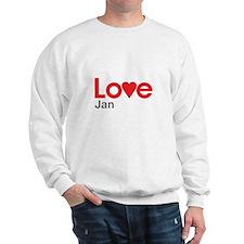 I Love Jan Sweatshirt