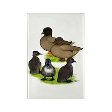 Call Duck Khaki Family Rectangle Magnet