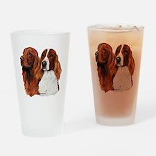 Irish Setters Drinking Glass