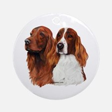 Irish Setters Ornament (Round)