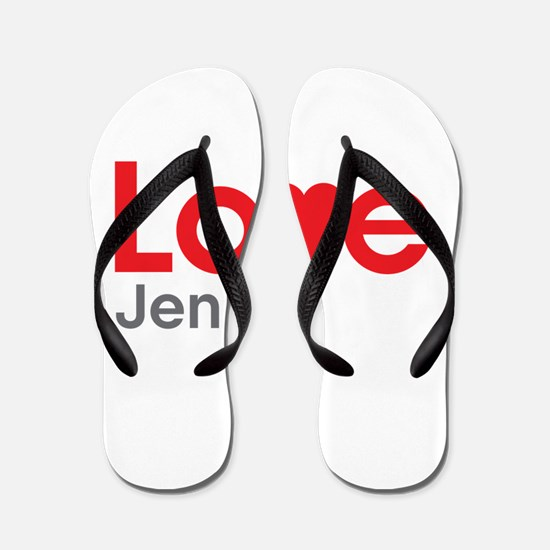 I Love Jenna Flip Flops