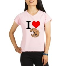 I Love Cougars Peformance Dry T-Shirt