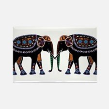 Painted Elephants Rectangle Magnet