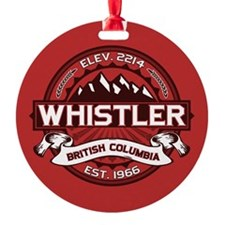 Whistler Red Ornament