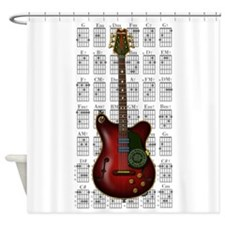 KuuMa Guitar 08 Shower Curtain