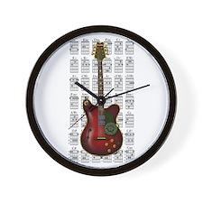 KuuMa Guitar 08 Wall Clock