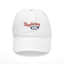 Skydiving Girl Baseball Cap