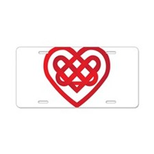 Celtic Knot Valentine Irish Aluminum License Plate