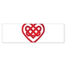 Celtic Knot Valentine Irish Bumper Bumper Sticker