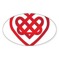 Celtic Knot Valentine Irish Decal