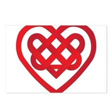 Celtic Knot Valentine Irish Postcards (Package of