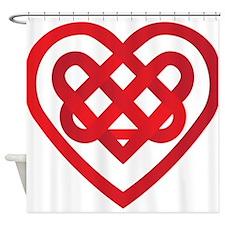 Celtic Knot Valentine Irish Shower Curtain