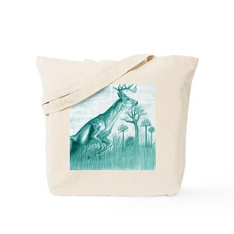 deer jumping / blue version Tote Bag