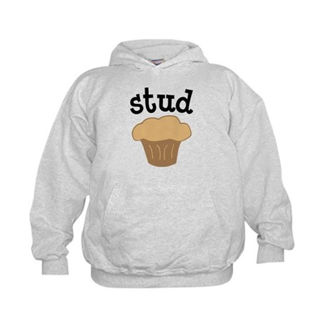 Stud Muffin Funny Valentines Day Gift Kids Hoodie