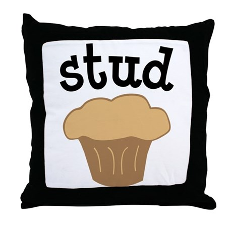Stud Muffin Funny Valentines Day Gift Throw Pillow