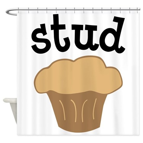 Stud Muffin Funny Valentines Day Gift Shower Curta