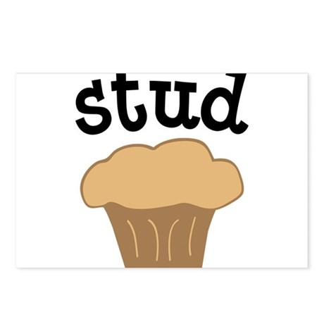 Stud Muffin Funny Valentines Day Gift Postcards (P