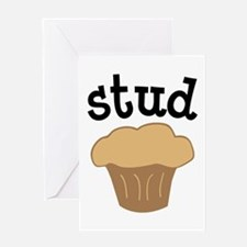Stud Muffin Funny Valentines Day Gift Greeting Car