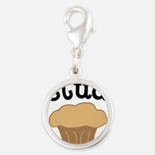 Stud Muffin Funny Valentines Day Gift Silver Round