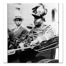 "Marcus Garvey Square Car Magnet 3"" x 3"""