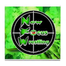 New Focus Wrestling Logo Tile Coaster