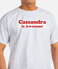 Cassandra is Awesome Ash Grey T-Shirt