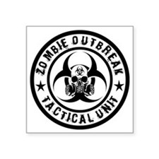 Zombie Outbreak Tactical unit Sticker