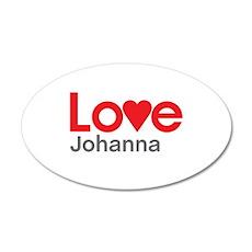 I Love Johanna Wall Decal