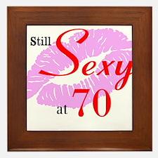 Still Sexy at 70 Framed Tile