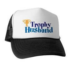 Trophy Husband Funny Valentine Trucker Hat